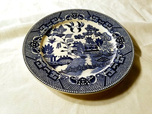 - Blue Willow Dinner Plate Marked Japan