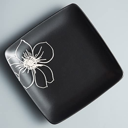 BaoKangShop Platos para microondas Plato de Filete Pintado a ...