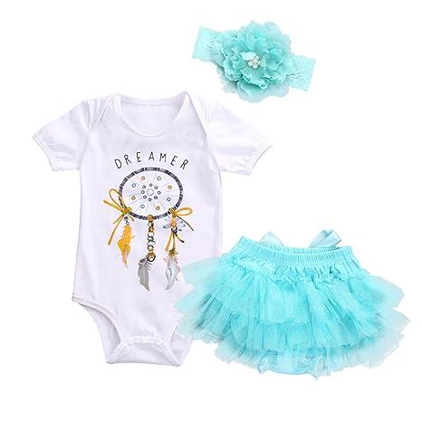 feiXIANG Conjunto de bebé recién Nacido Primavera y Verano Niñas de los niños Bebé niña Mono