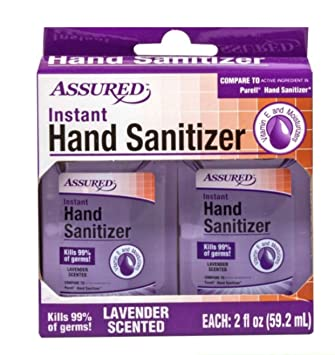 Amazon Com Assured Instant Hand Sanitizer 2 2oz Bottles Lavender