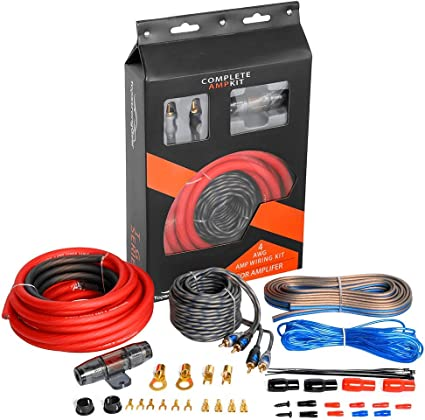 Amazon Com 4 Gauge Amp Kit True 4 Awg Amplifier Installation Wiring Amp Kit Install Cables Car Electronics