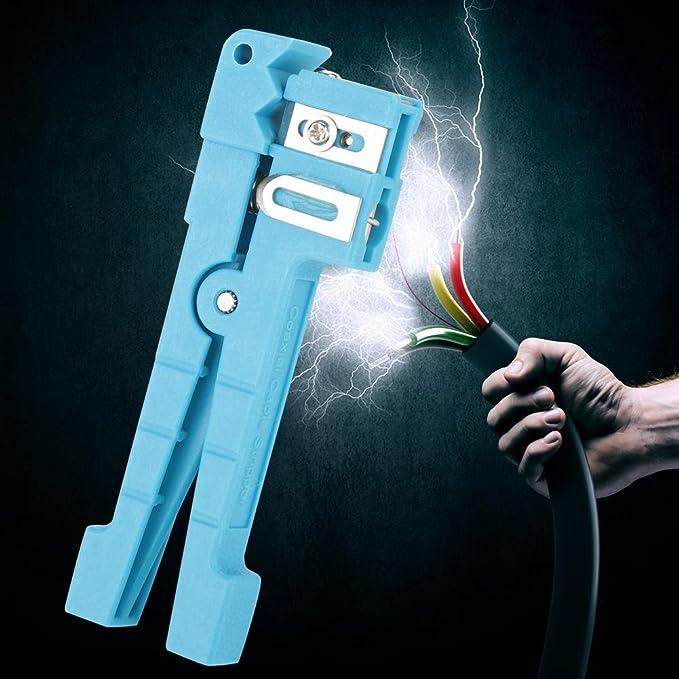 Akozon Pelacables de Fibra óptica Herramienta de Corte de Cable Coaxial Separador de Alambre (#2): Amazon.es: Bricolaje y herramientas