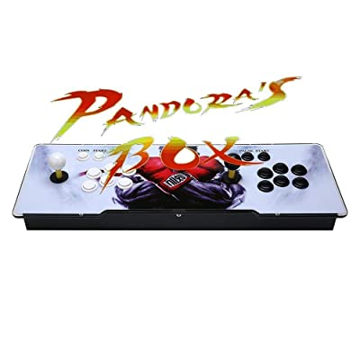 AB INC Video Game Console, Arcade Machine Over 1200 Latest Classic Games, 2 Players Pandora's Box 5S Multiplayer Home Arcade Console Games All in 1 Non-Jamma PCB Double Stick Newest Design Power HDMI: Toys & Games