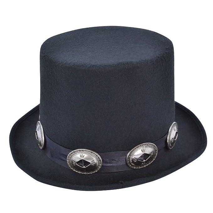 83acc0073 Amazon.com: Black Rocker Style Top Hat: Clothing