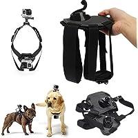Arnés para Perro Todas Las Razas Correa de Pecho de Montaje Fetch Dog Harness para GoPro Hero 1 2 3 3+ 4 5 6 7, Session, Xiaomi Yi, SJ4000 SJ5000 SJ6000 SJ7000