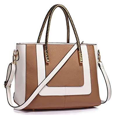 8602548580aa24 Womens Designer Handbags Ladies New Fashion Faux Leather Trendy Shoulder  Tote Bags Celebrity Style Bags For