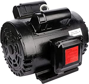 "ECCPP 7.5 HP Single Phase Air Compressor Electric Motor 184T Frame 60 HZ Frequency 3450 RPM 33.4-29.6 A 1-1/8"" Keyed shaft"