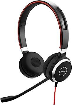 Comprar Jabra Evolve 40 - Auriculares Estéreo de Comunicaciones Unificadas para VoIP Softphone, Cancelación Pasiva de Ruido, Cable USB con Unidad de Control, Color Negro