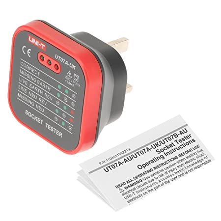 Surprising Uni T Professional Socket Tester Ut07A Uk Live Neutral Earth Line Wiring 101 Capemaxxcnl