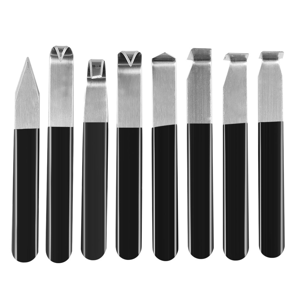 Kitspro 8Pcs Stainless Steel Carving Shaping Knives Art Pottery Tools,Clay Sculpture Blades Hand Tools Craft Trimming Artist Ceramic Tools Set for Carving, Shaping, Clay Sculpture, Modeling