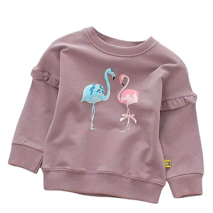 Amazon.com: bebé bebé niñas/niños Flamingo Crewneck Pullover ...