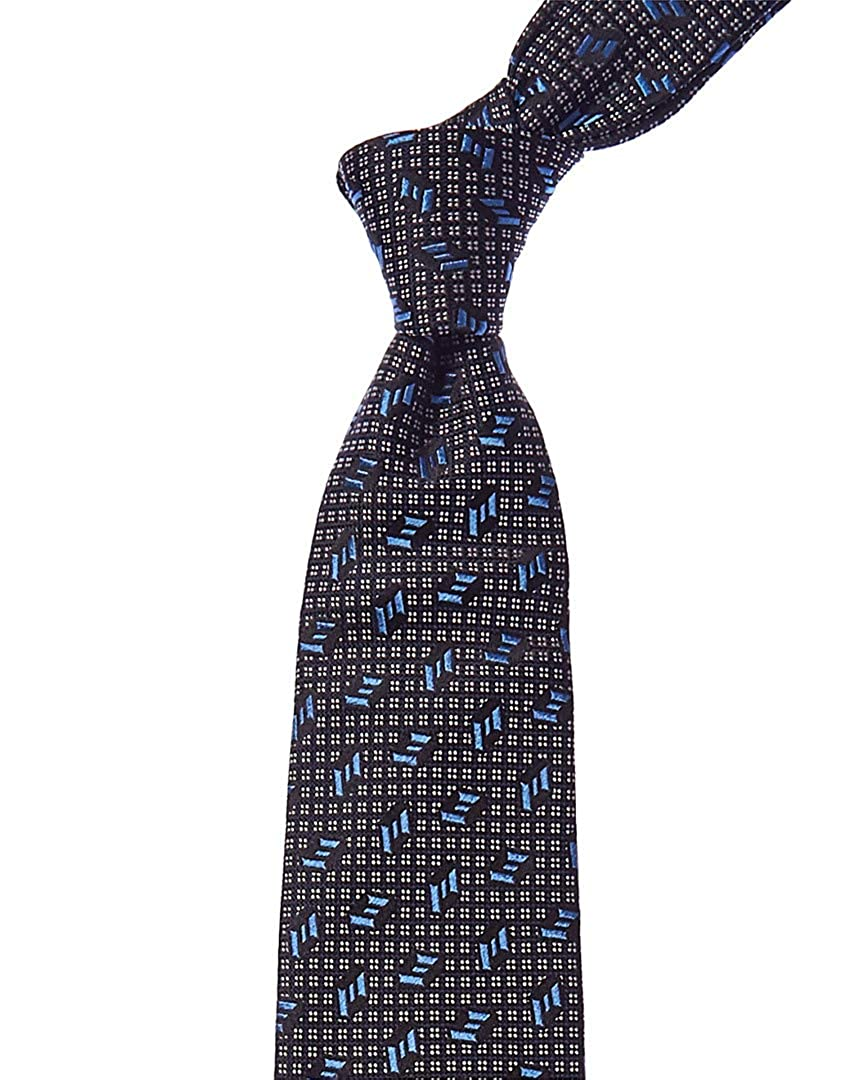 43276a4259de Turnbull & Asser Mens Navy & White Lines Silk Tie, Os, Blue at Amazon Men's  Clothing store: