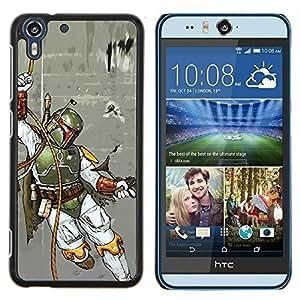 Jordan Colourful Shop - Boba Fett - Hunter For HTC Desire EYE M910x Personalizado negro cubierta de la caja de pl????stico