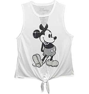 Official Mickey Mouse Vest Top NY Mickey Logo Disney Womens Grey new Skinny Fit