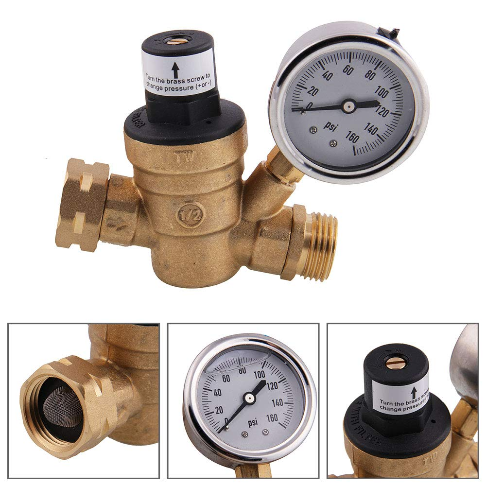 MKING M11-0660r Water Pressure Regulating Valve Brass Lead-Free Adjustable Bush