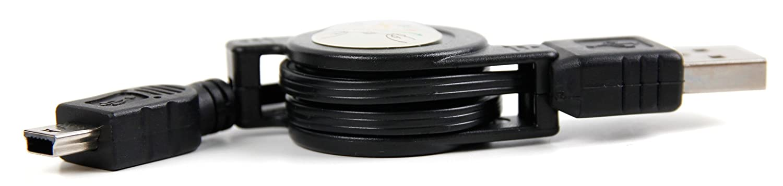 DURAGADGET Cavo di Carica Retraibile per Garmin Nü vi 2415LM | 2415LT | 44LM - Connessione USB - MiniUSB - Ideale per Ricambio