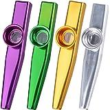 AONER- 4Pcs Kazoo Mirlitón de Metal, 4 Colores
