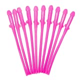 Westeng Willy Drinking Straws - Novelty Hen Party Gift - Willy Straws Hen Party Accessories Hen Night,Pack of 10