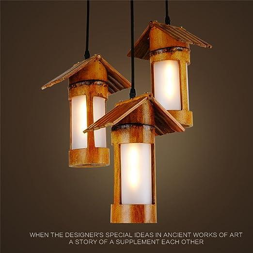Vida Lámpara colgante / de bambú luz colgante / de bambú / lámpara ...