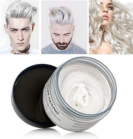 Color de pelo de cera, MOGOI 120ml Color temporal del cabello Tinte para teñir, Crema para el cabello, Mate Natural para el Cabello, para Hombres y ...