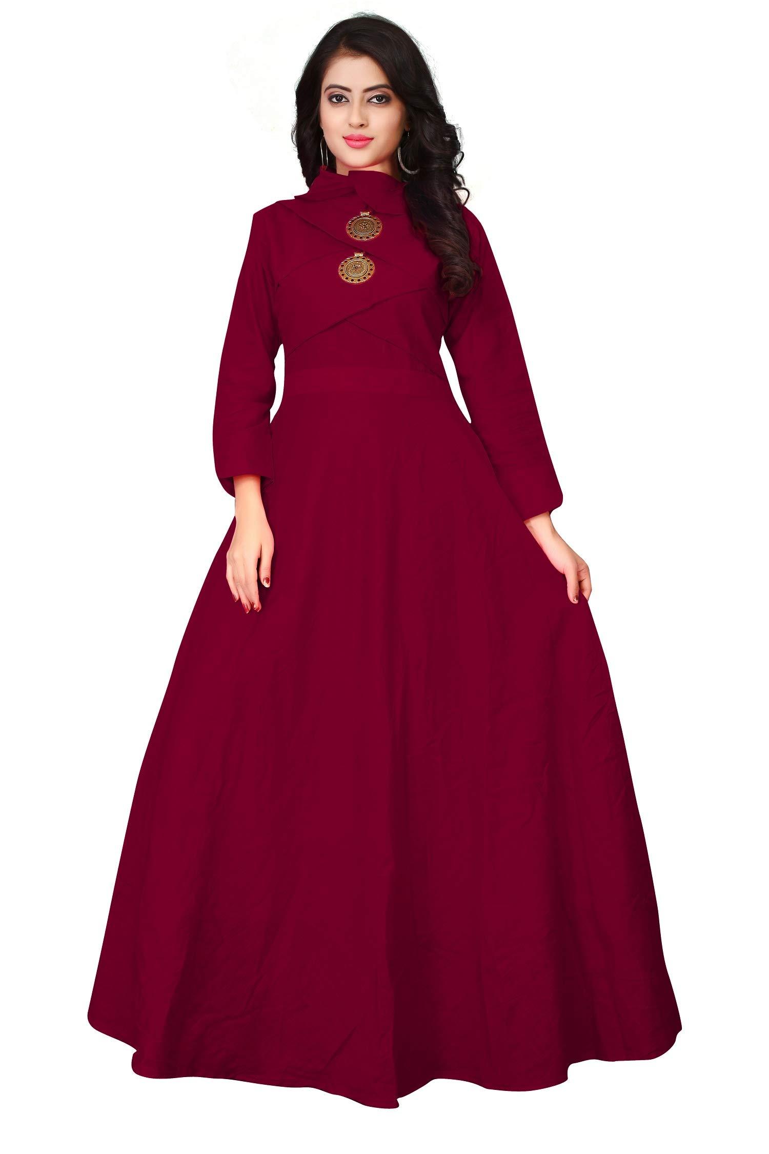 Leriya Fashion Women's Rayon Anarkali Gown Type Kurta/Kurti product image
