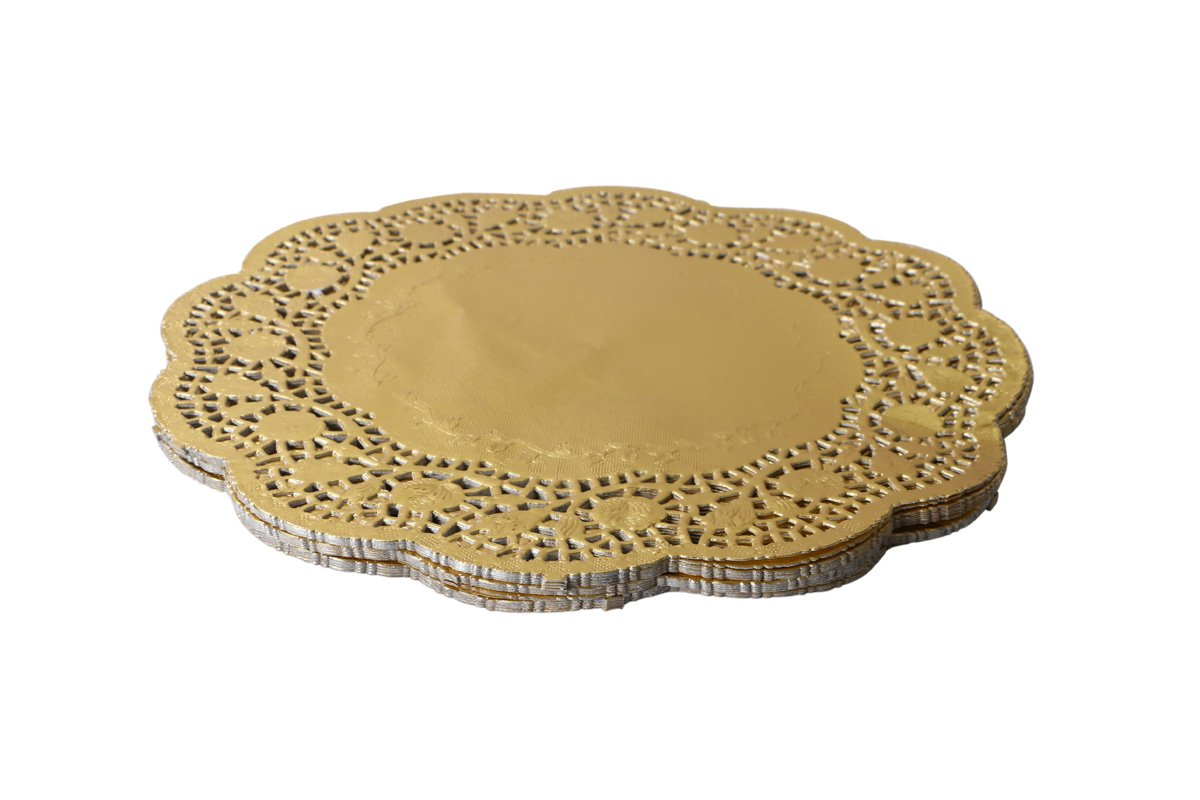 Geeklife Gold Foil Lace Doilies , 60 Pcs Paper Doilies , 10 Inches