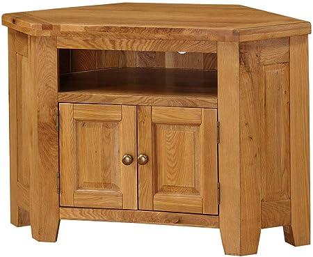 Design Vicenza Argenta - Mueble esquinero para televisor (Madera de Roble): Amazon.es: Hogar