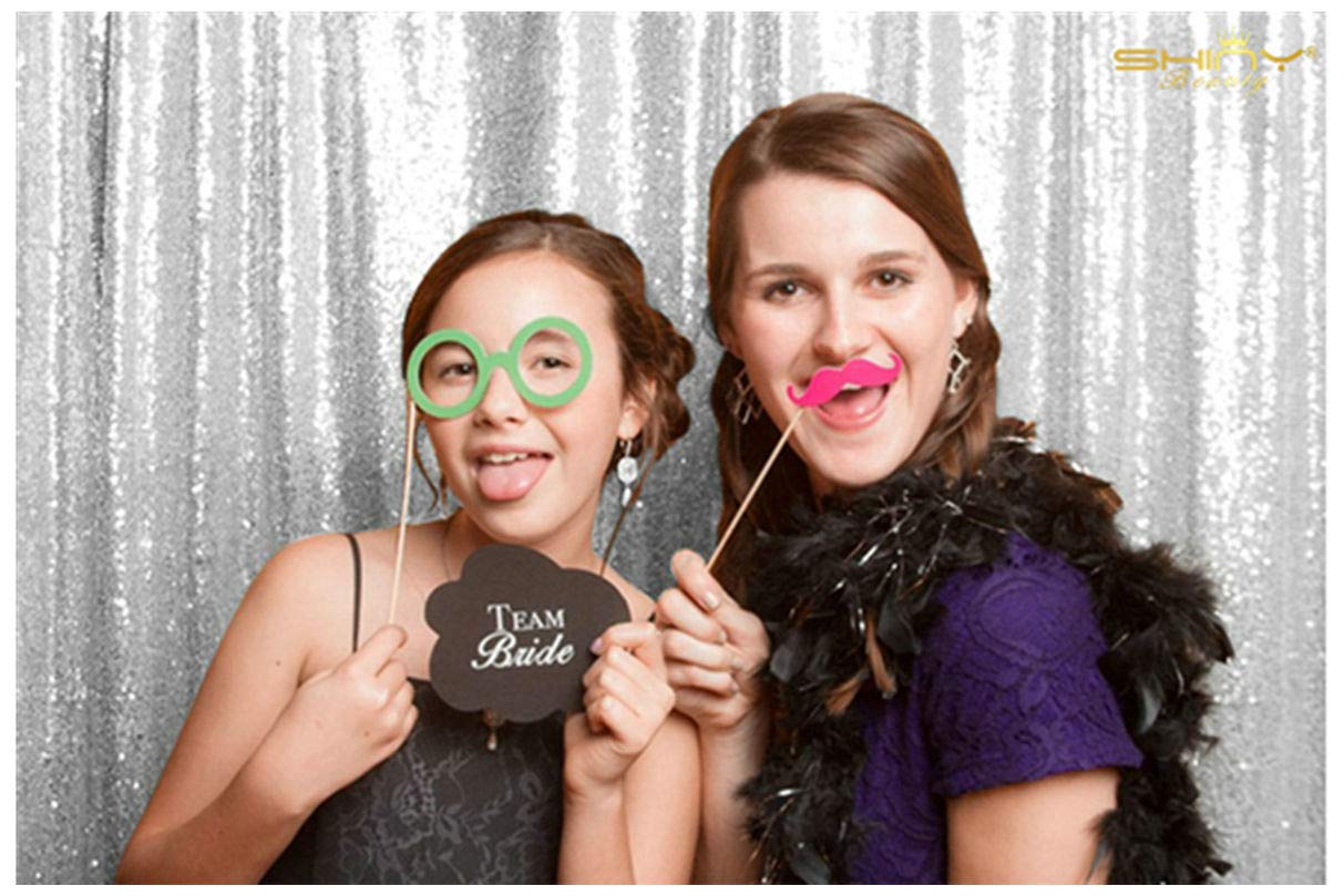 Silver Shimmer Sequin Fabric Photography Backdrop (20FTX10FT) by ShiDianYi (Image #3)
