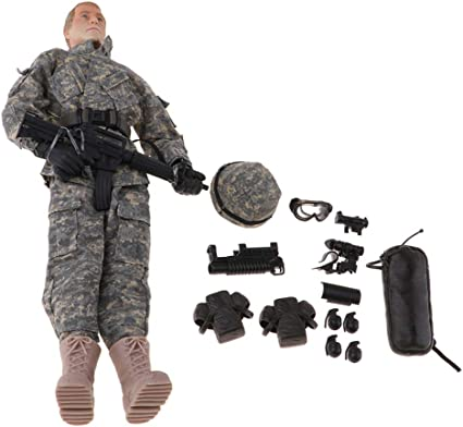 12inch Army Man Action Figures 1:6 Military Soldier Model Pretend Play Toys