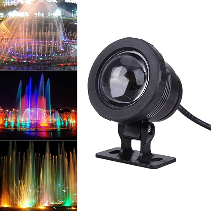 fontaines Musicales Jardins Aquatiques AC12V 35W 360 LED RVB Lumi/ère de Piscine sous-Marine Changement Multicolore avec t/él/écommande pour fontaines de Parc Lampe sous-Marine piscines