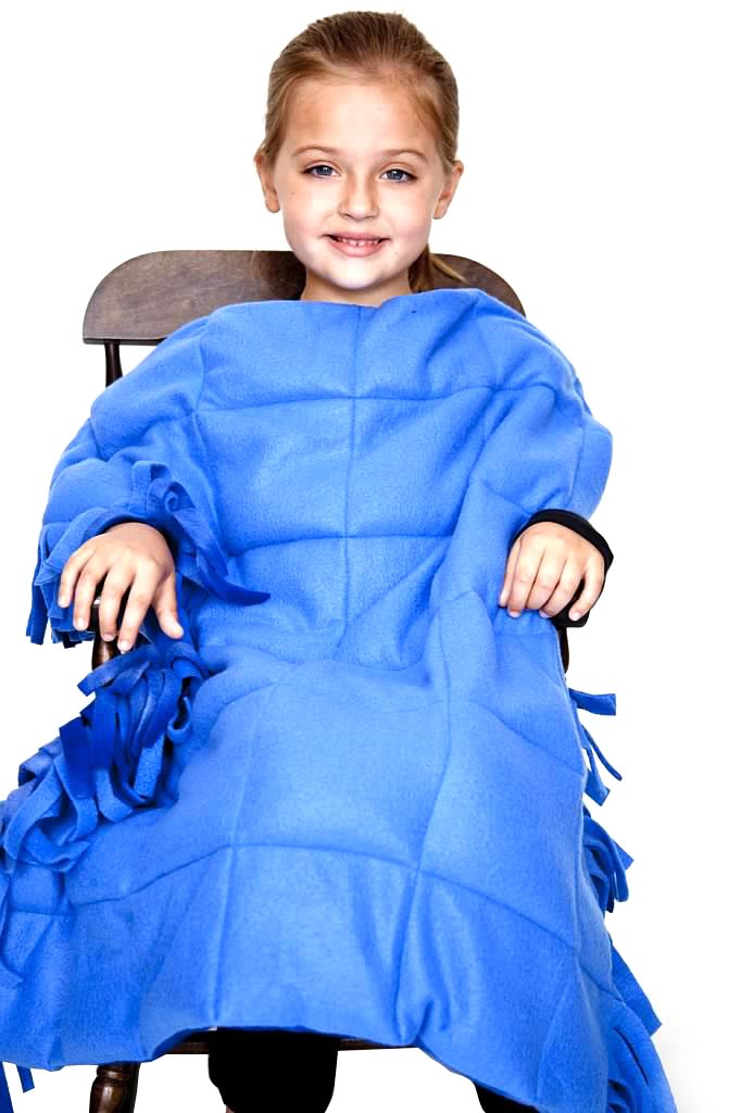 Small Fringed Weighted Blanket (5 Lb - 30x42) - Sensory Tool, Special Needs Aid, Provides Pressure Like a Hug by Covered In Comfort by Covered In Comfort (Image #2)