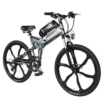 YRWJ Coche Eléctrico Plegable De La Bicicleta De Montaña Eléctrica De 26 Pulgadas con La Exhibición