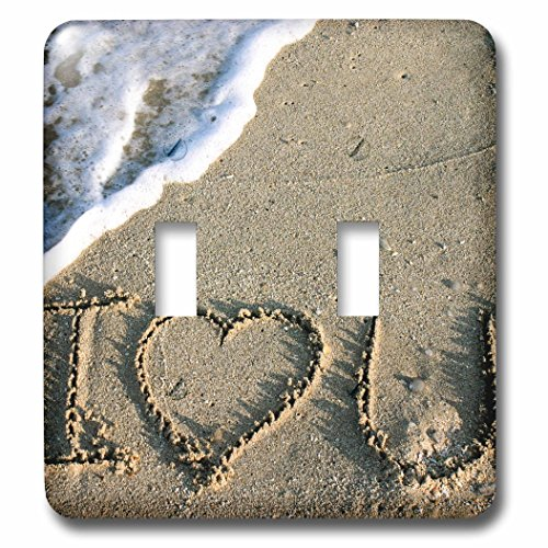 Danita Delimont - Love - Miami, Florida, USA. I love you written in the sand. - Light Switch Covers - double toggle switch - Outlet Miami Florida