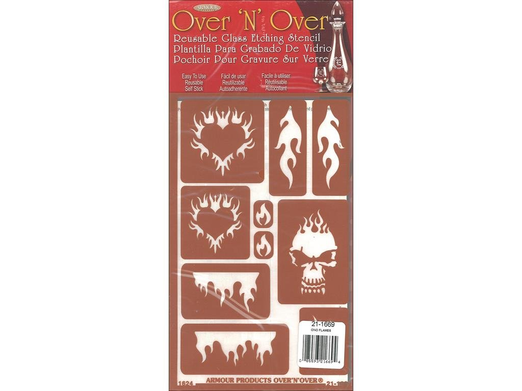 Armour Flames Over N Over Stencil Armour Products ARM21.1669