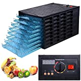 630W 8 Tray Black Electric Commercial Home Dehydrator Digital Timer Jerky Food Fruit Vegetable Dryer review