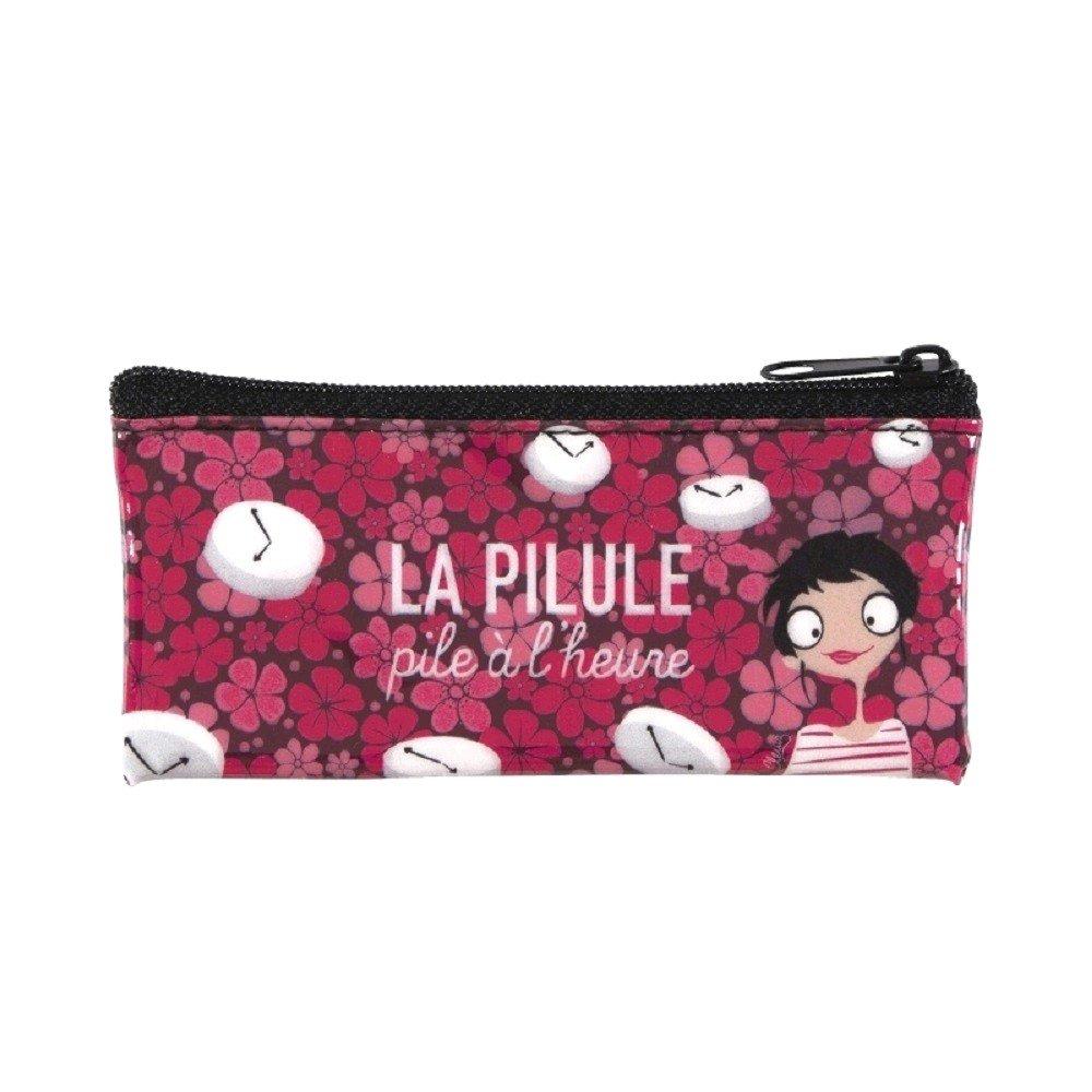 Bolsita para cosas de chicas p/íldoras dise/ño rosa con flores Derri/ère La Porte DLP A lheure
