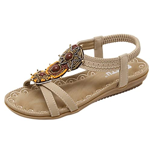 d6edd3ffbd Sandalias para Mujer Verano 2019 Fiesta Planas Playa Zapatos de Boca de  Pescado Sandalias Elegantes Vestir Suela Blanda Open Toe Romanas 35-42  PAOLIAN  ...