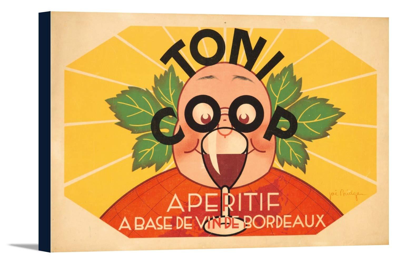 Toni Coopヴィンテージポスター(アーティスト: Barrez )フランスC。1932 18 x 11 7/8 Gallery Canvas LANT-3P-SC-73924-12x18 18 x 11 7/8 Gallery Canvas  B01DZ21RZ6