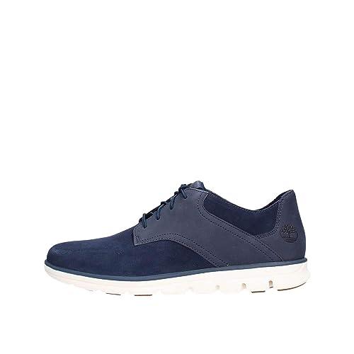 Timberland Zapatos de Cordones de Cuero para Hombre Azul