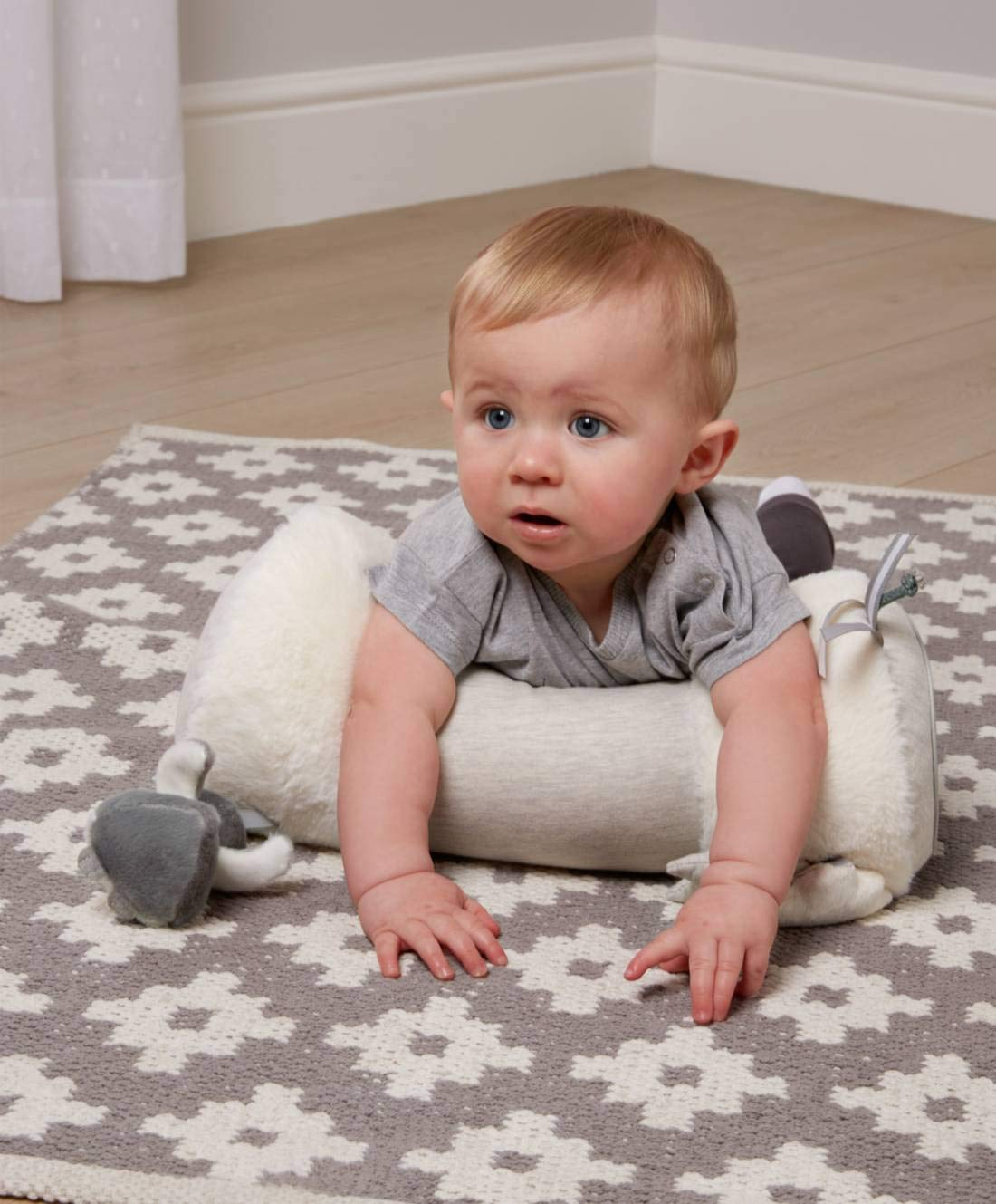 Soft Baby Pillow Mamas /& Papas Tummy Time Pillow Elephant /& Baby