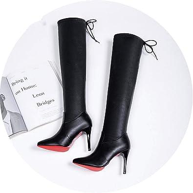 info for 548c0 056d9 Amazon.com | 2019 Women High Heels Red Bottom Over The Knee ...