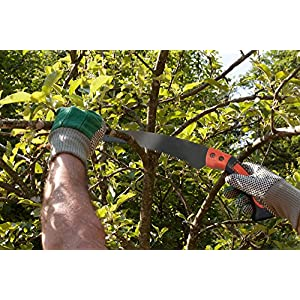 """Razor Sharp 14"""" Curved Japanese Style Hand Saw - Perfect for Trimming Branches and Shrubs - Typhon East"""