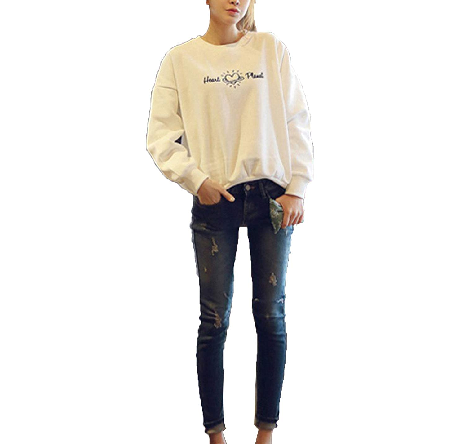 Amazon.com: MERRYDAY Women Large Size Sudaderas Mujer Kpop Long Sleeve Hoodie: Clothing