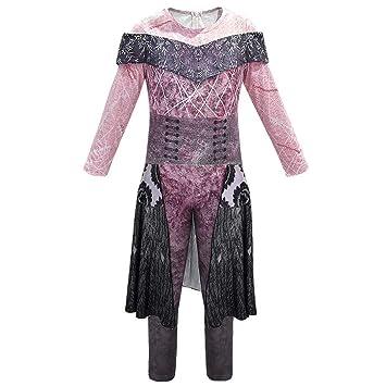 Niños adultos Mal / Evie / Jay / Carlos Cosplay Halloween Cosplay mono conjunto disfraz impreso en 3D vestido de mascarada para mujer Audrey disfraz ...