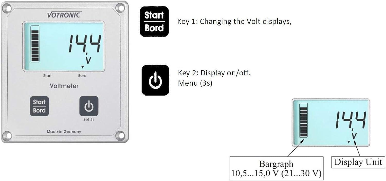 Votronic 1256/LCD volt/ímetro S para Sr U MPP regulador de carga