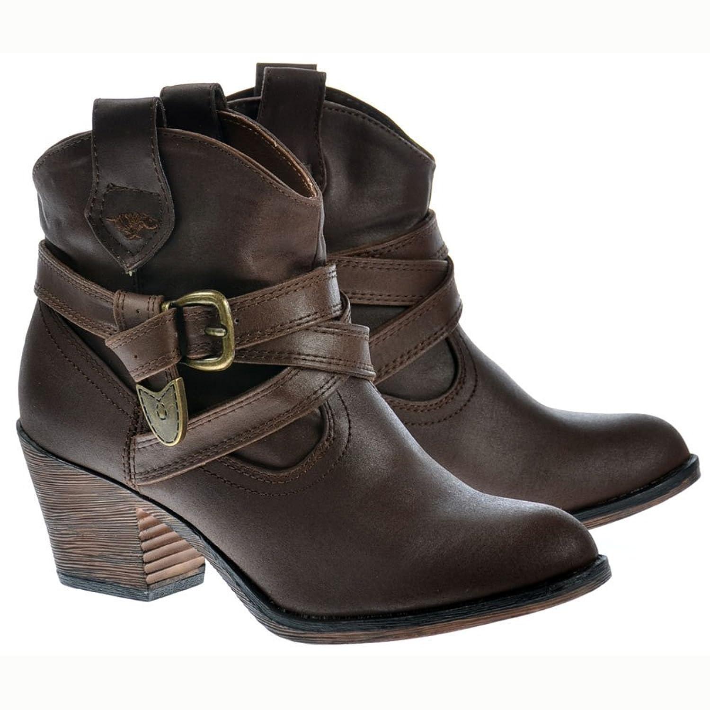 Rocket Dog Women's Satire Rider Fabric Cowboy Western Ankle Boots