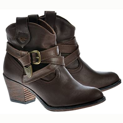 Rocket Dog Satire Reiter Stoff Damen Cowboy-Western-Stiefel UK3 - EU36 - US5 - AU4 PLZqrlmMC