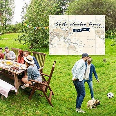 Fondo de Aventura Espera Pancarta de Aventura Grande Mapa de Let The Adventure Begin World Foto Props de Fondo de Mesa 7 x 5 pies: Juguetes y juegos