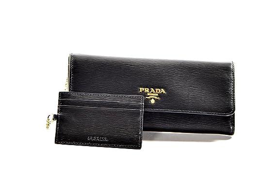 e74530864fb0 Prada Womens 1MH132 2EZZ Vitello Move BI Leather Wallet Nero (Black):  Amazon.co.uk: Clothing