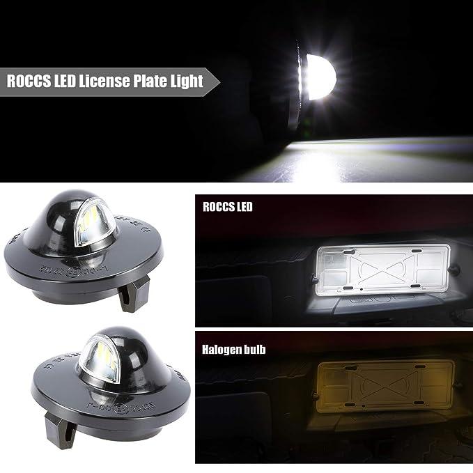 E-marked Aluminum Rear Universal White LED Number License Plate Light Lamp Hot